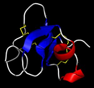 Pro-hevein - Image: Hevein (hev b 6.02) 1HEV