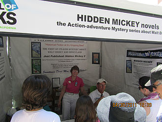 Los Angeles Times Festival of Books - Hidden Mickey booth at the 2011 Los Angeles Times Festival of Books, on the USC campus