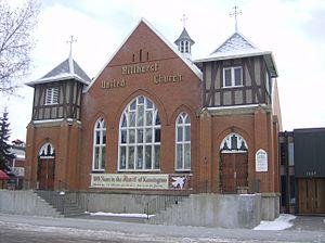Hillhurst, Calgary - Hillhurst United Church on Kensington Close