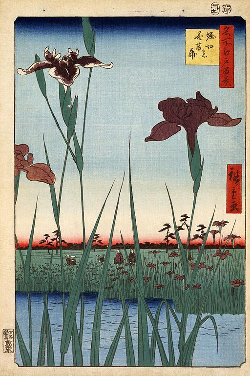 Hiroshige, Horikiri iris garden, 1857