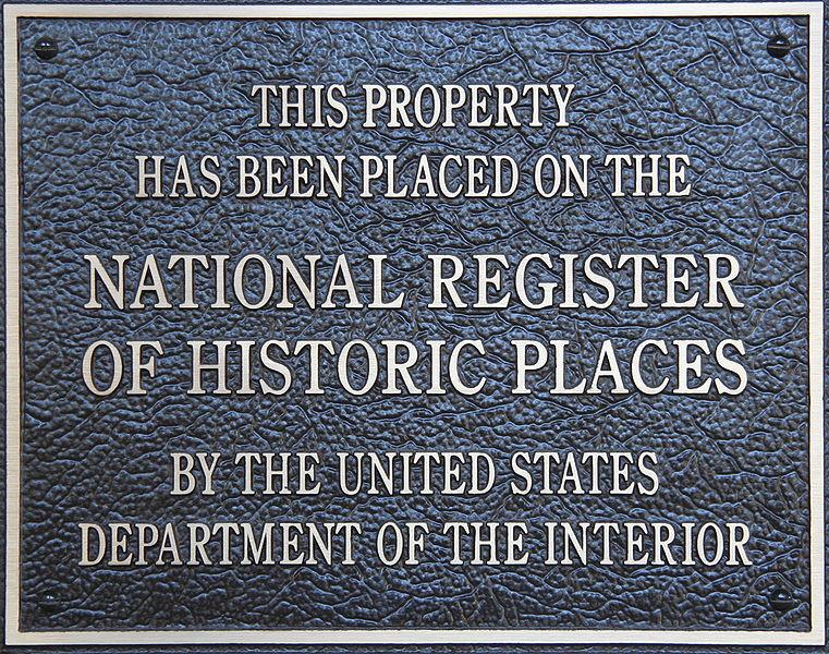 File:HistoricPlacesNationalRegisterPlaque.JPG