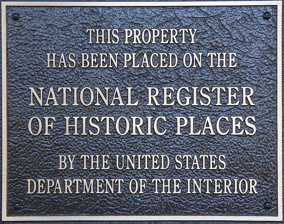 HistoricPlacesNationalRegisterPlaque