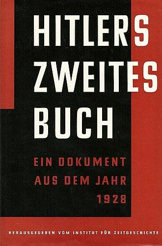 Zweites Buch - 1961 German-language hardcover edition