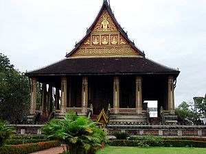 Emerald Buddha - Haw Phra Kaew in Vientiane where it was held for 214 years
