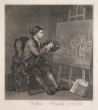Four Times of the Day - William Hogarth Self portrait (1758)