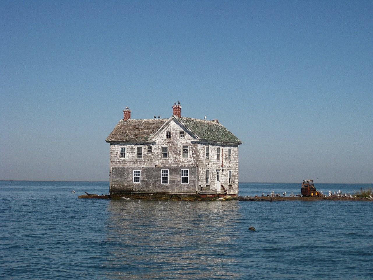 La dernière maison sur Holland Island en 2009. Elle s'est effondrée en 2010.