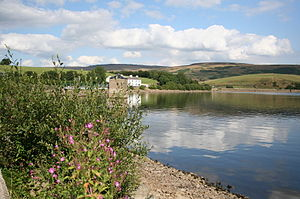 Hollingworth Lake - Hollingworth Lake as seen from the north shore