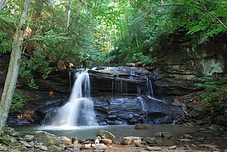 Holly River State Park - Image: Holly River State Park Upper Falls