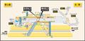 Honjin station map Nagoya subway's Higashiyama line 2009.png