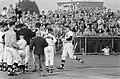 Honkbal EHS tegen Schoten, Geurts komt binnen na home-run van Heemskerk, Bestanddeelnr 911-4978.jpg