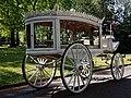 Horse drawn white hearse City of London Cemetery 2.jpg