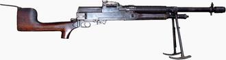 Hotchkiss M1909 Benét–Mercié machine gun - A Hotchkiss Mark I.
