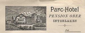 Hotel Park Interlaken na druku firmowym