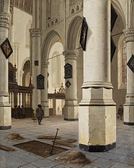 Interior of the Old Church in Delft.