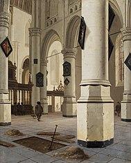 Wnętrze starego kościoła w Delft