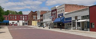 Humboldt, Nebraska - Downtown Humboldt: east side of town square