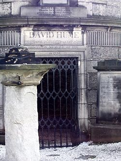 Tomb of David Hume in Edinburgh