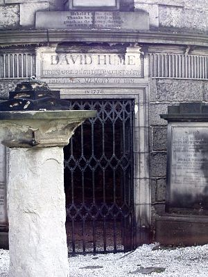 Tomb of David Hume on Calton Hill, Edinburgh, ...