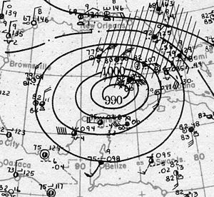 1921 Tampa Bay hurricane - Image: Hurricane Six analysis 24 Oct 1921