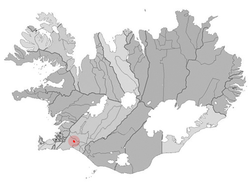 Location of the Municipality of Hveragerði