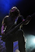Hypocrisy, Mikael Hedlund at Party.San Metal Open Air 2013 02.jpg