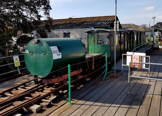 Mixed train - Hythe Pier Train carrying diesel and passengers in April 2017.