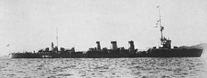 Japanese cruiser Tatsuta (1918) - Image: IJN Tatsuta at Kure in 1928