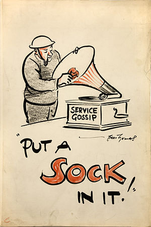 Bert Thomas - Thomas' cartoon for the Ministry of Information during the Second World War