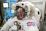 ISS-46 Timothy Peake during spacesuit fit check in the Quest airlock (2).jpg