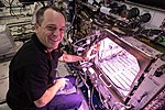 ISS-56 Ricky Arnold works in the Kibo laboratory.jpg