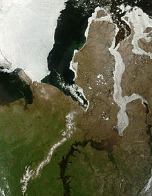 Ice jam in the Gulf of Ob.jpg