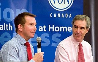 Scott Brison - Brison and Michael Ignatieff in Ottawa in 2010