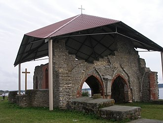 Saint Meinhard - Remains of the church built by Meinhard in present Latvia