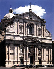 Giacomo della Porta's façade of the Church of the Gesù, a precursor of Baroque architecture