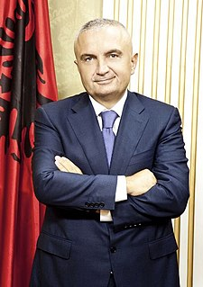 President of Albania head of state of Albania and commander-in-chief of the Albanian military
