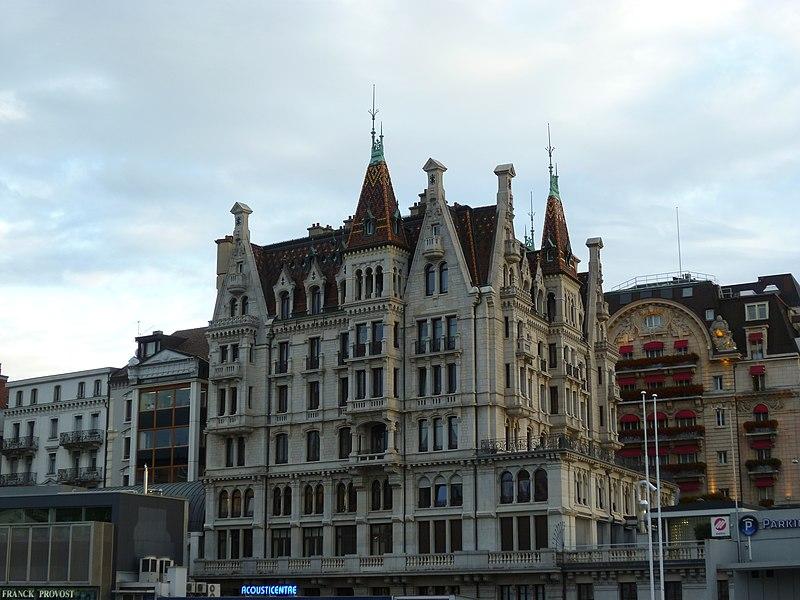 Fichier immeuble d 39 habitation et de bureau lausanne jpg for O bureau lausanne