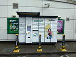 InPost parcel collection point, BP, Southgate, London.jpg