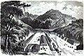 Inauguration de chemin de fer Pedro II (Brésil). — VUE DE LA VALLÉE DES MACACOS. — D'après un croquis de M. D..., officier de marine.jpg