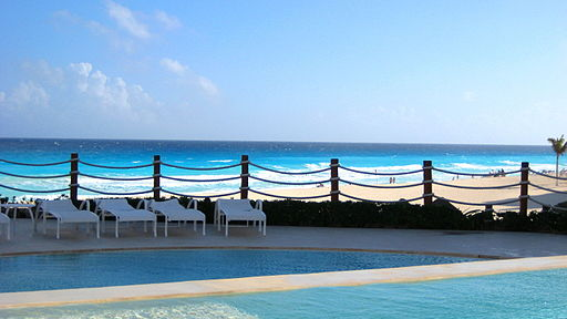 Infinity Pool at the Cancun Caribe Park Royal Grand Hotel & Resort