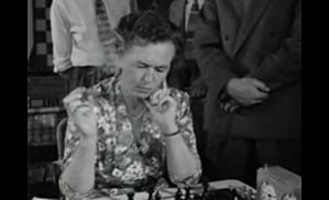 1st Women's Chess Olympiad - Ingrid Larsen, who played on the Danish team who finished 13th.