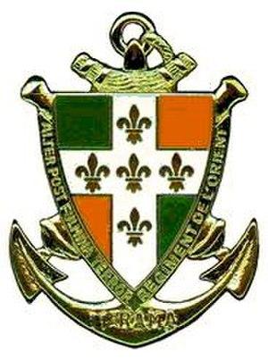 11th Marine Artillery Regiment - Image: Insigne du 11e régiment d'artillerie de marine