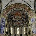 Interieur, overzicht van het koor met de schilderingen in de koepel en de schilderingen op de boog en de pijlers voor het koor - Maastricht - 20386753 - RCE.jpg