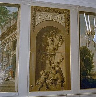 Jurriaan Andriessen (artist) - Image: Interieur eetzaal, aanzicht schildering Heemstede 20363812 RCE
