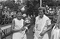 Internationale tenniskampioenschappen te Hilversum, nr 7, 8 C Sandberg (links), Bestanddeelnr 924-7760.jpg