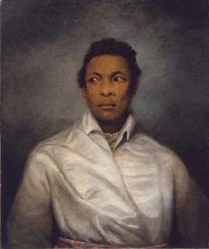 Manchester Art Gallery - A Moor by James Northcote, the first piece acquired by the gallery