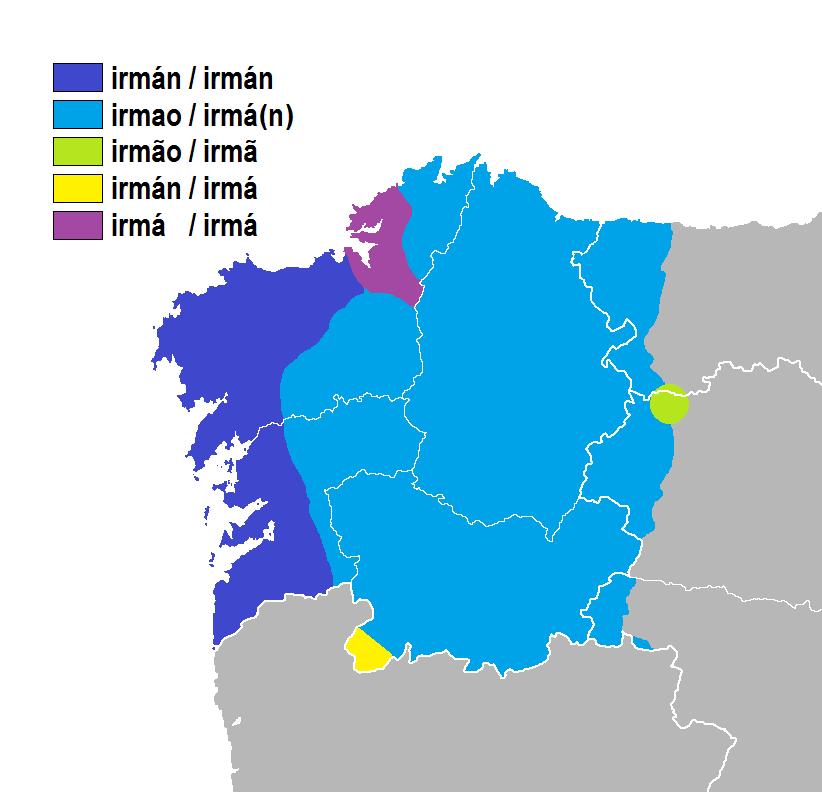 Irmán-irmá-irmao idioma galego