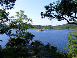 Island Pond in Harriman State Park, near the Village of Harriman.