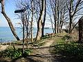 Isle of Wight Coastal path at Bembridge beach.JPG