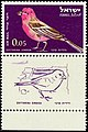 Israeli stamps 1963 - Birds of Israel - Carpodacus synoicus.jpg