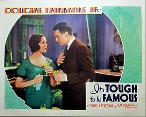 It's Tough to Be Famous - Lobby card